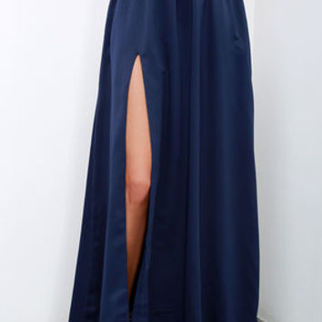 'Twas a Dream Navy Blue Maxi Skirt