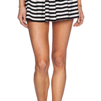 kate spade new york Georgica Beach Stripes Mini Skirt in Black & White