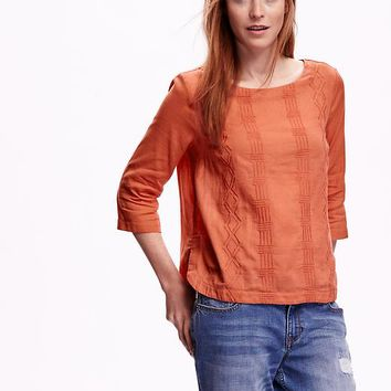 Old Navy Womens Hi Lo Gauze Top