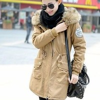 Fashion Womens Warm Zip Fleece Winter Coat Jacket Outwear Parka 3 Colors