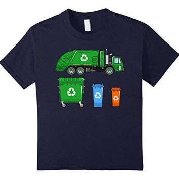 Kids Garbage Truck Shirt   Trash Truck Shirt   With Dumpsters