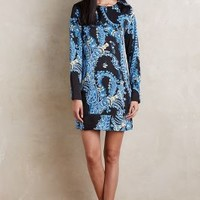 Greenwich & Mews by Misha Nonoo Paisley Shift Dress in Black Motif Size: