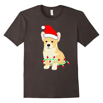 Christmas Corgi Dog Holiday Shirt gift