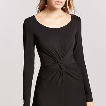 Twist-Front Bodycon Dress - Women - New Arrivals - 2000201504 - Forever 21 Canada English