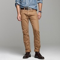 484 slim-fit garment-dyed jean in dusty camel - J.Crew