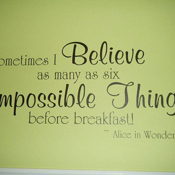 Alice in Wonderland Vinyl Wall Decal Decor by asyouwish2006