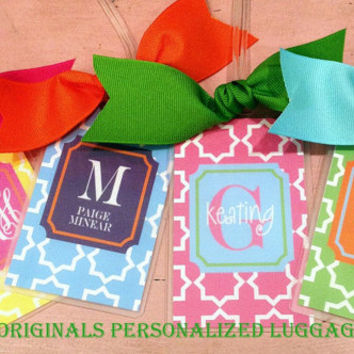 Personalized Geometric Luggage Tags