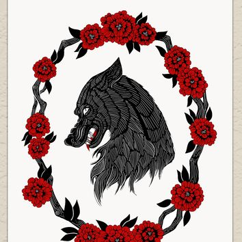 "Darling Beast Art Print 8.5"" x 11"", Archival, Signed by Artist"