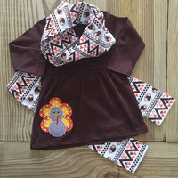 3-PC Tribal Aztec Turkey Outfit
