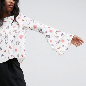 Mango Floral Printed Top at asos.com