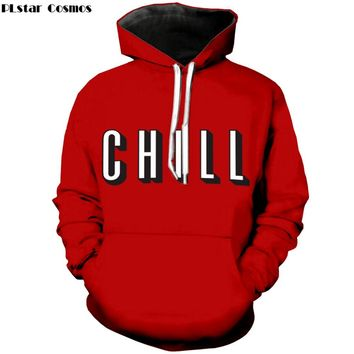 """letter """"Chill"""" 3D print Hoodie"""