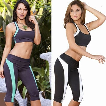 New Ladies 3/4 Leggings Workout Tight Gym Cropped Pants High Quality Women's Running Yoga Sports pants = 1933137476