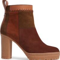See by Chloé Polina Patchwork Bootie (Women) | Nordstrom