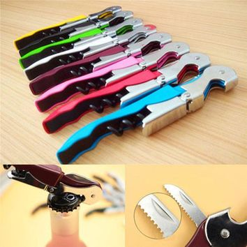 Stainless Steel Cork Screw Corkscrew MultiFunction Wine Cap Opener OK Beer Cap Bottle Opener Kitchen Bar Tools Accessories