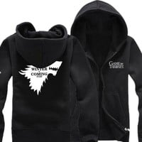 Game Of Thrones Hoodies - House Stark, Winter is Coming, Ours is the Fury, Valar Morghuls - Variety of Hoodies