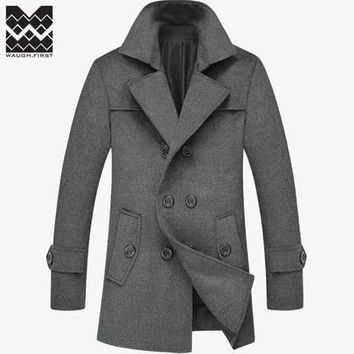 Men's Coats Jackets Winter Long Wool