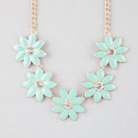 Full Tilt Flower Necklace Mint One Size For Women 24288152301