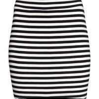 Short Jersey Skirt - from H&M