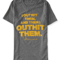 Aeropostale  Muhammad Ali Outwit Outhit Graphic T