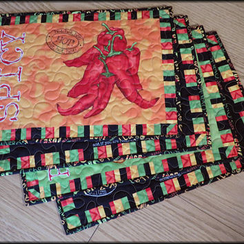 Quilted Caliente Peppers Placemat 772