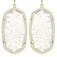 Danielle Gold Earrings in Crackle Crystal - Kendra Scott Jewelry