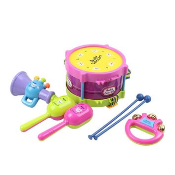 5pcs Kids Baby Roll Drum Beat toy Rattles Educational Musical Game Instruments Baby Educational Toys