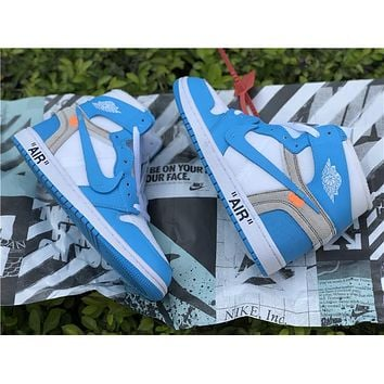 Off White x Nike Air Jordan 1 North Carolina Sneaker