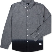 Black Dip Dye Chambray Shirt