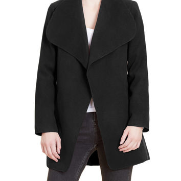 LE3NO Womens Lightweight Oversized Open Coat Jacket with Detachable Belt