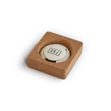 Cap Cut Foil Cutter BOJ (White) with Holder Made of Natural Cork Packaging