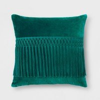 Velvet Fringe Square Pillow - Opalhouse™
