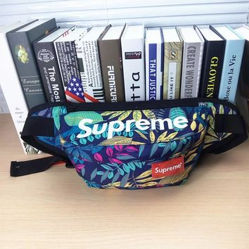 Tree Printed Canvas Supreme Crossboy Shoulder Chest Bag