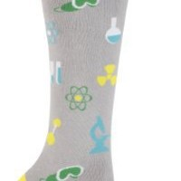 Sock It To Me Mad Science Grey Knee High Socks, one size