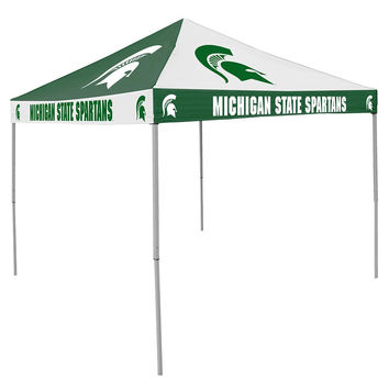 Michigan State Spartans NCAA 9' x 9' Checkerboard Color Pop-Up Tailgate Canopy Tent