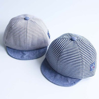 Summer Fashion Cute Baby Striped Hat Cotton Blend Baby Boy Cap Adjustable Infant Hats for Girls 6-18M