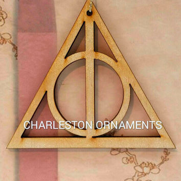 Harry Potter Deathly Hallows Ornament, Harry Potter Deathly Hallows Laser Cut Ornament