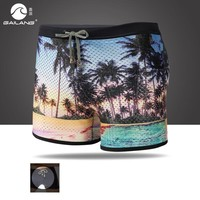 new summer men's bathing suit swimsuit swimming trunks boxers bikini sexy swimwear patchwork maillot de bain hot sell