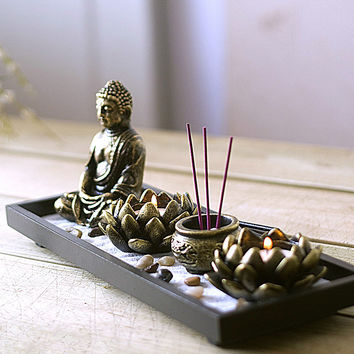 Buddha Zen  incense candle ornaments aromatherapy candle