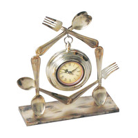Utensil Clock ( 1- Aa Battery Not Included)