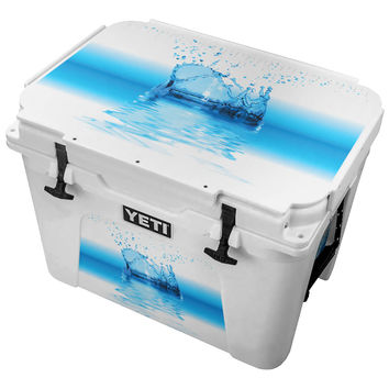 Abstract Water Splash Painting Skin for the Yeti Tundra Cooler