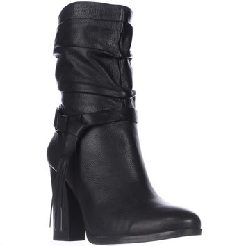 Guess Tamsin Mid-Calf Slouch Western Boots - Black