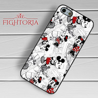 Mickey Mouse Minnie Mouse Collage Vintage - zDzA for  iPhone 6S case, iPhone 5s case, iPhone 6 case, iPhone 4S, Samsung S6 Edge