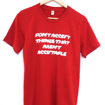 Things That Aren't Acceptable Red Graphic Unisex Tee