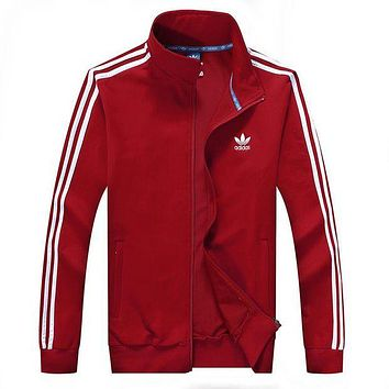 ADIDAS Fashion Casual Women Men Unisex Cardigan Jacket Coat