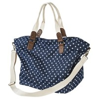 Mossimo Supply Co. Polka Dot Carry All Handbag - Blue