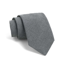 Fulton Crosshatch Tie in Grey