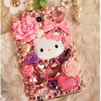 sweet Pink iPhone Cases-Cute iPhone 5 Case-iPhone Case Cover custom samsung galaxy s3 Case Galaxy s2 i9100 Case-Bling i9300 Case