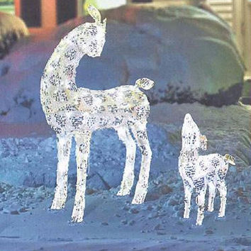 Deer Christmas Yard Art - 2 Piece Set