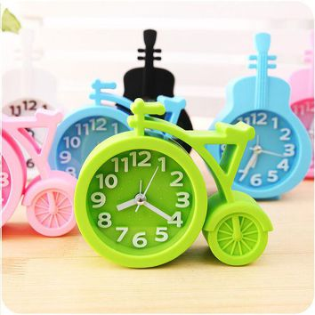 DCCKL72 Candy colors Creat Portable mini Mute children student clock bicycle Desk Table Alarm Clocks gifts favor