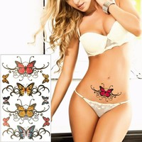 Tattoo Sticker Butterfly Temporary 17*10cm Waterproof
